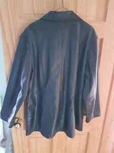 Black leather coat  Peterborough Peterborough Area image 2