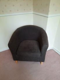 Bedroom chair bucket chair
