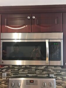 Stove and over the range microwave