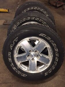 "Jeep Wrangler 18"" wheels & tires Kitchener / Waterloo Kitchener Area image 1"