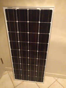 100W Solar panel and 66Ah deep cycle battery