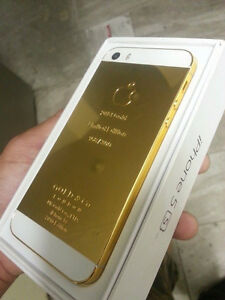IPHONE 5S 16GB 24KT CUSTOM GOLD PLATED - FACTORY UNLOCKED