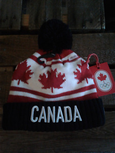 Brand new toddlers HBC Team Canada toque one size fits all.