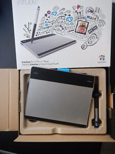 Wacom pen and touch tablet