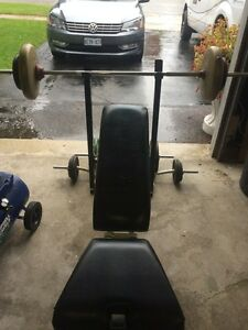 Weight bench bars and weights. Cambridge Kitchener Area image 1