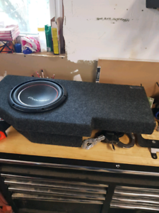 """Dodge Ram Sub Box with 10"""" Pioneer Subwoofer"""