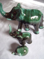 Blue Mountain Pottery ELEPHANTS 15 - 20 - 30
