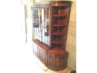 Beautifully crafted two piece Mahogany Display Cabinet