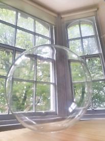 2x Clear glass lamp shades