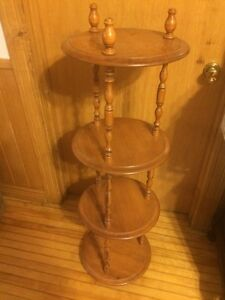Vintage knick knack tier table shelf plant stand