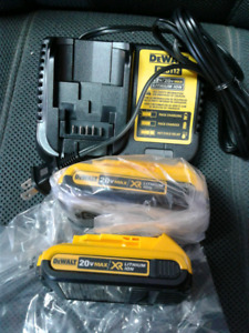 NEW Pair Dewalt Batteries and Charger