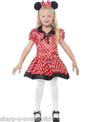 ss Minnie Maus Büchertag Party Kostüm Kleid Outfit 4-12 Jahre (Niedliche Minnie Maus Kostüme)