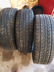 3- LT 265 70 R 17 tires $20 each or all 3 for $50