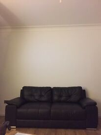 Leather sofa nearly new