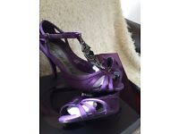 Purple Size 4 Heels and matching bag