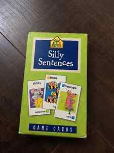 School Zone - Silly Sentences - Flash Cards