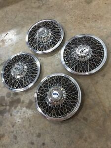 "NOS Ford Mustang 14"" Wire Wheelcovers / Hubcaps"