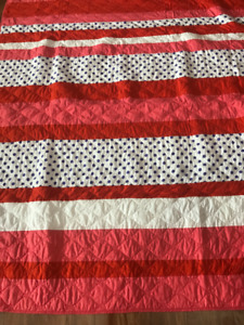Twin Size Patch Work Quilt and Pillow Sham