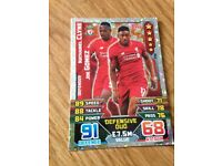 Clyne and Gomez duo match attax 2015/16