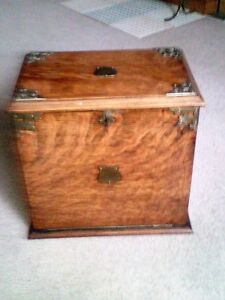 Antique- One Drawer gentlemans Oak Desk Cabinet -Circa 1896