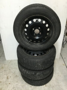 Snow Tires on Rims: Michelin X-ICE. 195/60R15