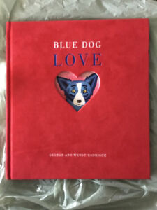 Blue dog LOVE book (red felt cover)