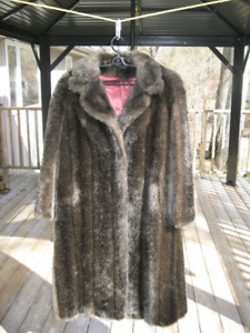 Russian Sable faux fir coat.