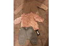 M&S girls 3 piece outfit BNWT 3-6 months