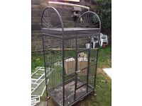 Large parrot parakeet cage african grey amazon macaw