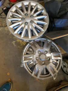 Truck car hubcaps 17 inch chrome and silver
