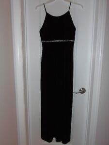 EUC Long Black Velvet Evening Gown
