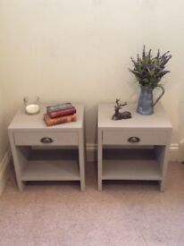 Pair Of French Linen bedsides