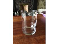 15no 15x10cm glass cylinder vases/candle holders