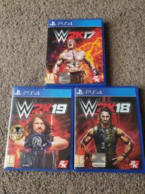 PS4 Games W2K19, W2K18, W2K17 Read Description