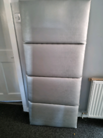 Silver Metallic King Size Headboard