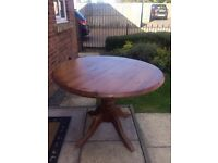 Round Solid Pine Table