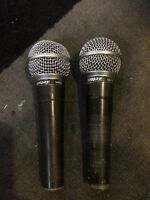 Shure SM58 Dynamic microphones