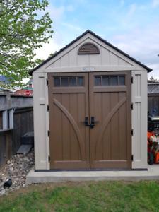 Suncast 7x7 vinyl shed