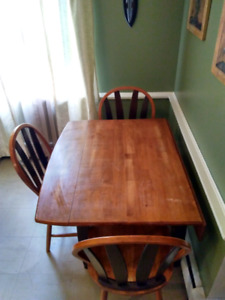 Kitchen table and chairs.
