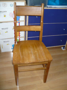 Solid wooden chair, yellow, good condition for $39.99