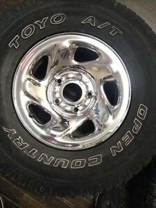 "Dodge Ram Tires and Rims 16"" Toyo 265 75 16 Mint shape"