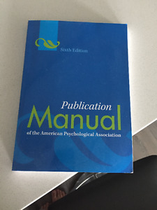 Publication Manual of the American Psychological Association 6th