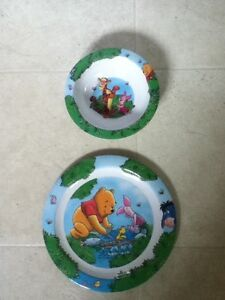 Kids Winnie the Pooh Bowl and Plate Set