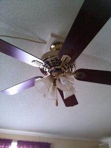 3 ceiling fans,
