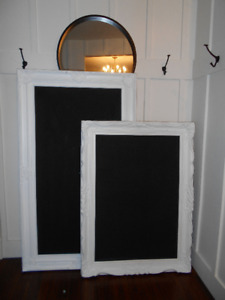 large vintage framed chalkboards