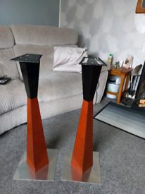 Speaker stands. Ideal for shelf speakers.