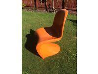 Retro s-shaped chair