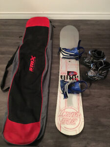 Womens Snowboard Package (Snowboard, Bindings, Boots and Bag)