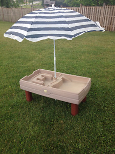 Step2 Naturally Playful Sand and Water Table with umbrella/cover
