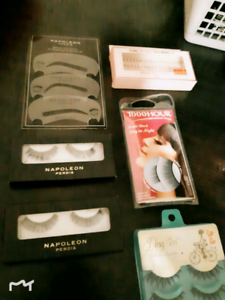 Napoleon Perdis and other false eyelashes and makeup bag bundle